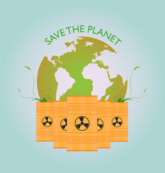 saving the planet vector image