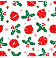 Seamless christmas pattern christmas balls and vector