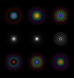 Set of geometric circles vector