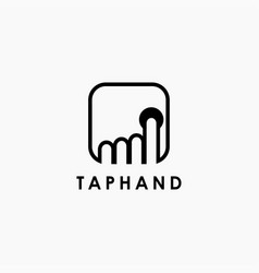 simple tap hand logo icon template vector image