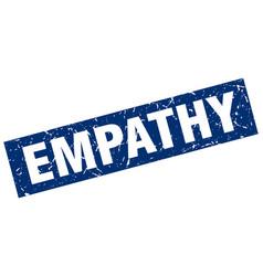 Square grunge blue empathy stamp vector