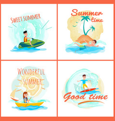 Sweet summer time collection vector