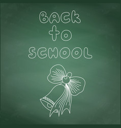 the inscription chalk back to school and drawing vector image