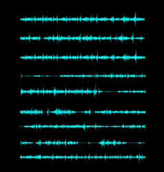 the sound wave a linear form in song or vector image