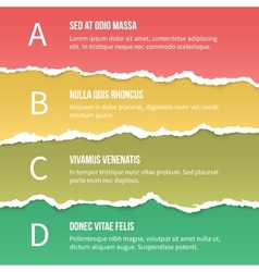 Torn paper options vector image