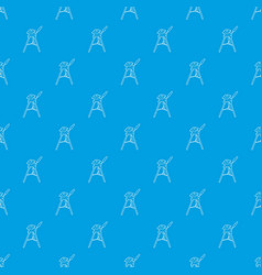 tripod for camera pattern seamless blue vector image