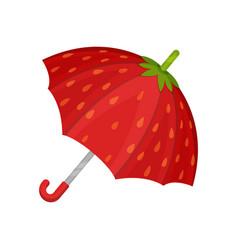 Ute red strawberry umbrella vector