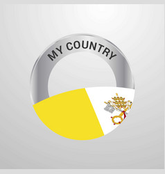 vatican city holy see my country flag badge vector image