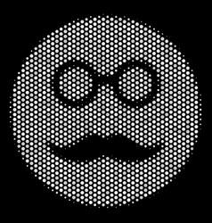 white pixel pension smiley icon vector image