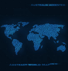 world abstract map australia vector image