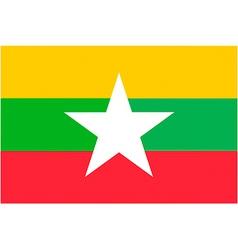 burmese flag vector image vector image