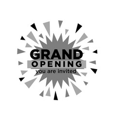 grand opening invitation isolated minimalistic vector image vector image