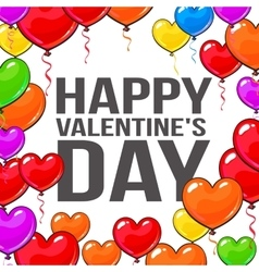Valentine day greeting card with bunch of heart vector image