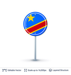 congo flag isolated on white vector image