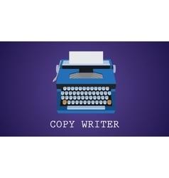copywriting copywriter with type vector image