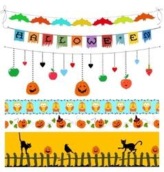 Halloween design elements vector image vector image