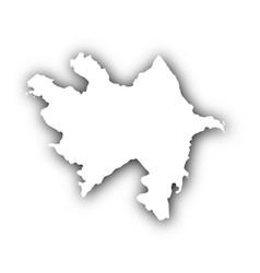 map of azerbaijan with shadow vector image