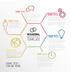 Modern hexagonal infographic report template made vector