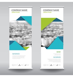 roll up business brochure flyer banner design vector image vector image