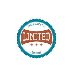 Vintage Label - limited Edition vector image