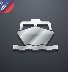 boat icon symbol 3D style Trendy modern design vector image vector image
