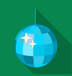 Disco ball icon in flat style isolated on white vector