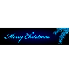 merry christmas blue banner vector image vector image