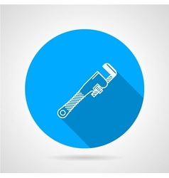 Pipe wrench flat icon vector image