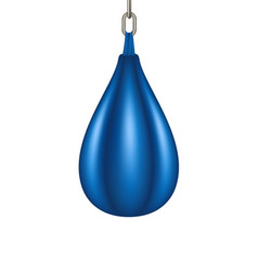 punching bag for boxing in blue design vector image