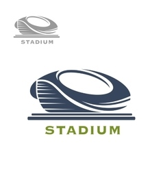 Sport arena or stadium icon vector image vector image