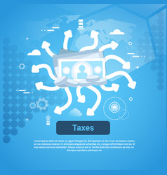 Taxes payment concept web banner with copy space vector