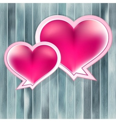Valentines Day background with heart EPS10 vector image