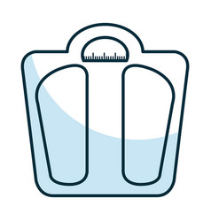 weight balance bathroom icon vector image vector image