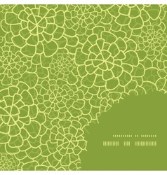 abstract green natural texture frame corner vector image vector image