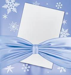 Christmas blank white paper vector image vector image