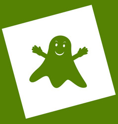 ghost isolated sign white icon obtained vector image vector image