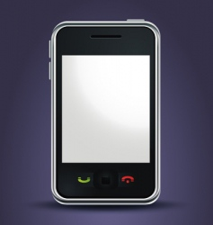 mobile phone lit up vector image