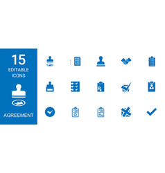 15 agreement icons vector