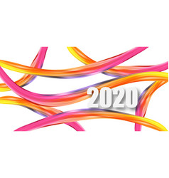 2020 new year on background a colorful vector image