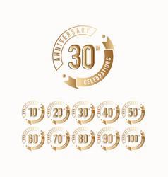 30 th anniversary celebration logo template design vector