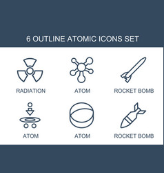 6 atomic icons vector