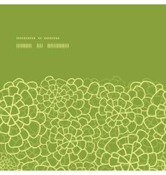 Abstract green natural texture horizontal frame vector