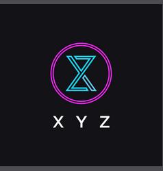Abstract modern monogram xyz letter logo icon vector