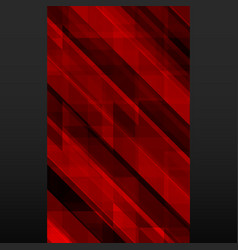 abstract red mosaic banner on black background vector image