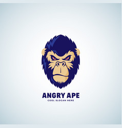 Angry ape abstract sign emblem or logo vector