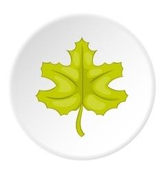 Autumn leaf icon cartoon style vector