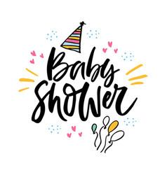 Baby shower lettering vector