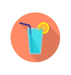 blue cocktail icon vector image