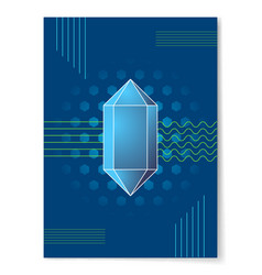 Blue diamond shape on abstract background poster vector
