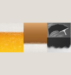 bubble foam banner set realistic style vector image